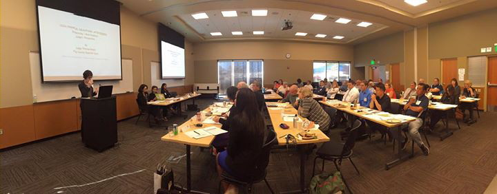 Walla Walla's legal aid community attends the first CLE on Legal Financial Obligations organized by 2015 Goldmark Intern, Ingrid Zerpa.