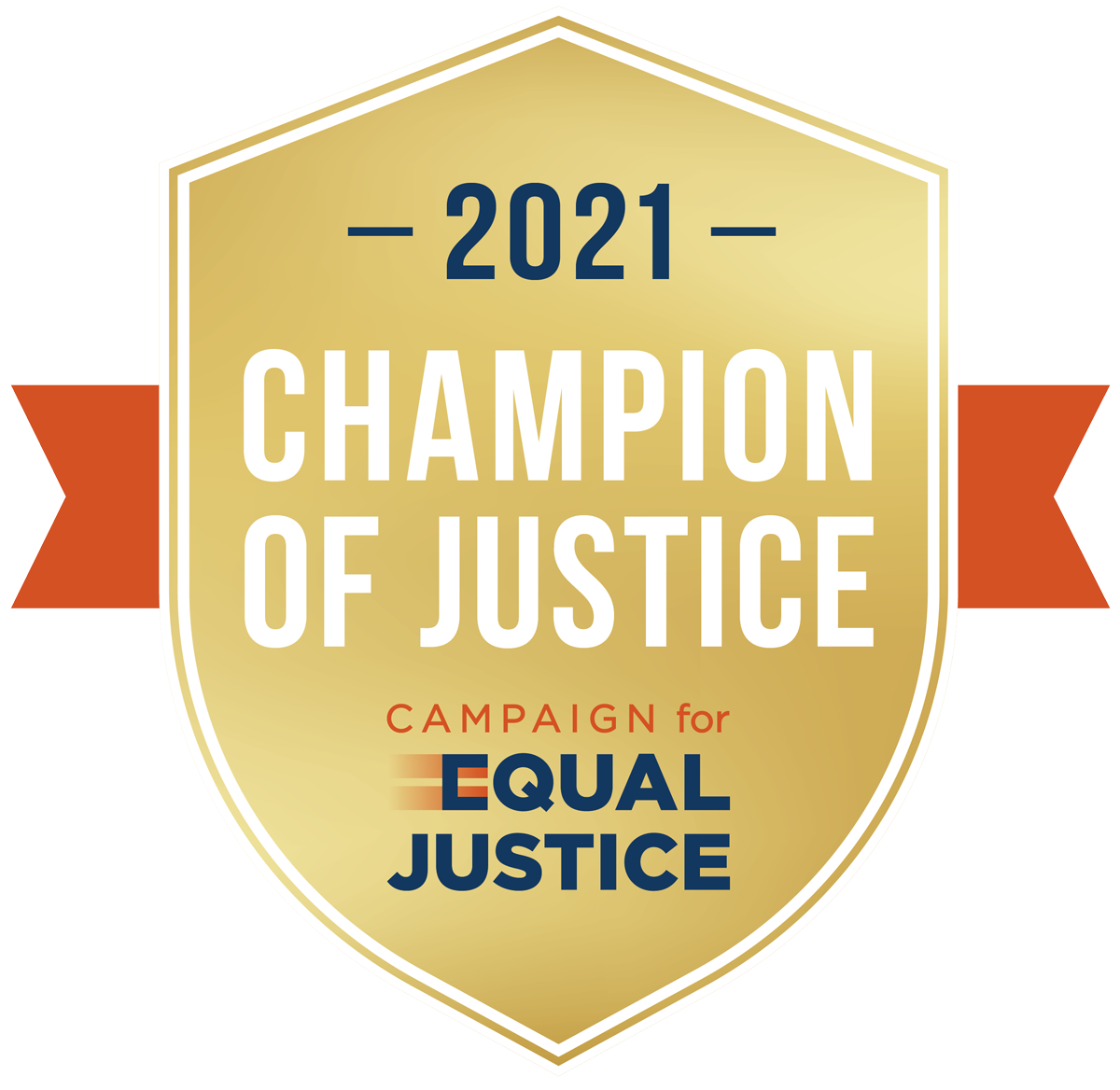2021 Champion of Justice web seal: Campaign for Equal Justice